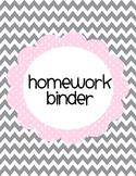Pink and Grey Printable Binder Cover