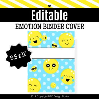 Binder Cover, Emotion Printable, Organizer - Teacher Planner
