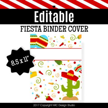 Binder Cover, Fiesta Printable, Organizer - Teacher Planner