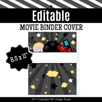 Binder Cover, Movie Printable, Organizer - Teacher Planner