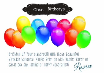 graphic relating to Balloons Printable called Printable Birthday Balloons