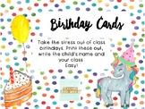 Printable Birthday Cards (Editable) #ausbts18