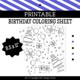 Birthday coloring page printable