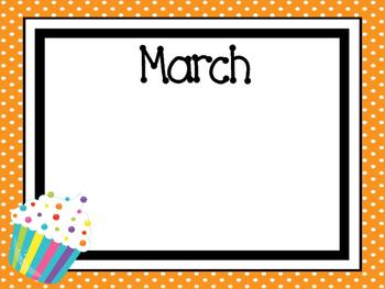 Printable Birthday Dry Erase Bulletin Board Set. Classroom Accessories.