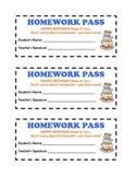 Printable Birthday Homework Passes