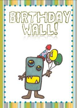 Printable Birthday Wall Sign