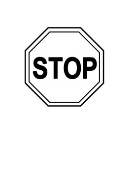 Refreshing image throughout stop and go signs printable