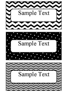 Editable Blank Labels in Black and White Theme