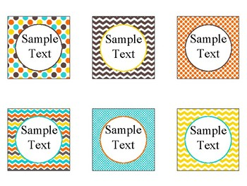 Printable Blank Labels in Candy Colors Theme
