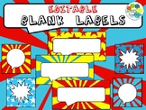 Printable Blank Labels in Comic Book Theme