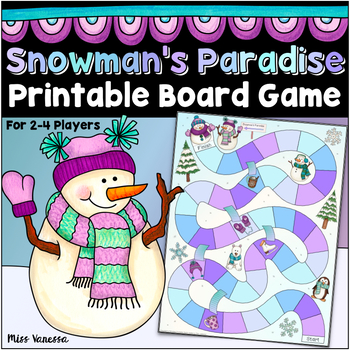 Winter Board Game for Counting Practice