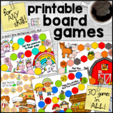 Printable Board Games for Any Skill  |  Everyday Themes