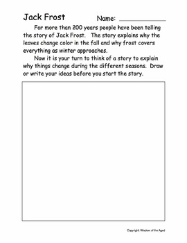 Autumn - No Prep Printable Book - Jack Frost (Canadian Spelling)