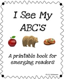 Printable Book: I See My ABC's