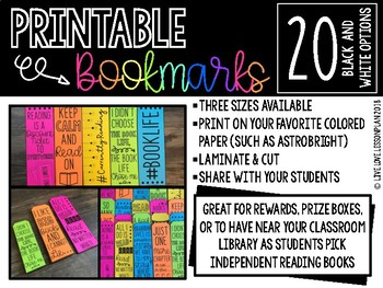 Printable Bookmarks Quotes Worksheets Teachers Pay Teachers