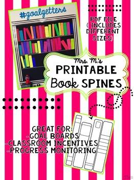 Printable Book Spines for Bookshelf Bulletin Boards