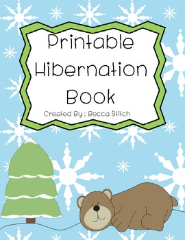 printable book of hibernating animals by becca stitch tpt. Black Bedroom Furniture Sets. Home Design Ideas