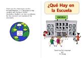 Printable Booklet, School Vocabulary, ¿Que Hay en la Escuela?