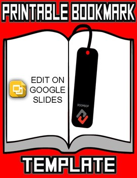 image relating to Printable Bookmark Template named Printable Bookmark Templates (Editable inside Google Slides)