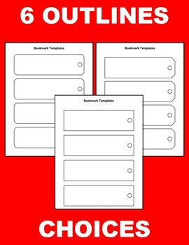 printable bookmark templates editable in google slides