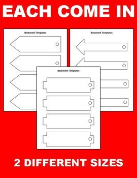 Printable Bookmark Templates (Editable in Google Slides)