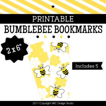 Printable Bookmarks, Bumblebee Printable, Reading - Classroom Handouts