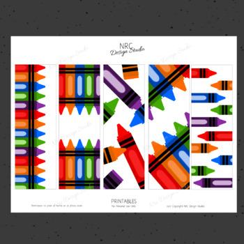Printable Bookmarks, Crayon Printable, Reading - Classroom Handouts