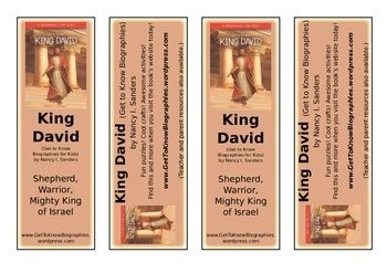 Printable Bookmarks Get to Know King David