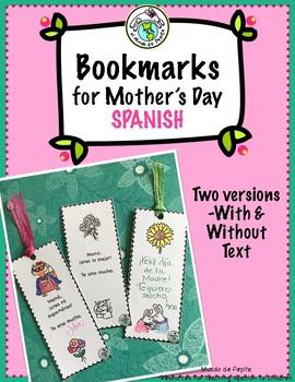 Printable Bookmarks for Mother's Day El Día de la Madre Spanish Resources