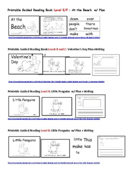Printable Books Through the Year! Guided Reading, Math, Science