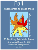 Autumn - No Prep Printable Books - 13 stories with Activities