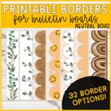 Printable Borders (Bulletin Boards) - Boho Set 1