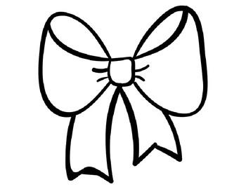 Printable Bow Template Bow Template Christmas Bow Template ...