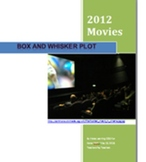 Printable Box-and-Whisker Plot 2012 Top Movies Fun Algebra Activity