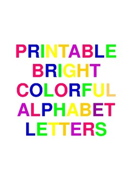 Printable Bright Colorful Alphabet Letters