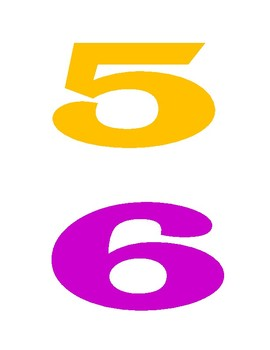 Printable Bright Colorful Numbers