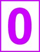 Printable Bright Colorful Numbers With Borders