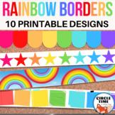 Printable Bulletin Board Borders, Rainbow Classroom Decor