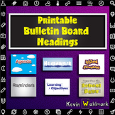 Printable Classroom Information Bulletin Board Headings