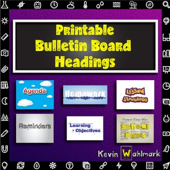 Printable Classroom Information Bulletin Board Headings