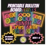 Printable Bulletin Board Letters BUNDLE  ~SETS 1-5~