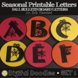 Printable Bulletin Board Letters - FALL - Set 1