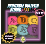Printable Bulletin Board Letters ~SET 10~