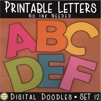 Printable Bulletin Board Letters ~SET 12~