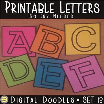 Printable Bulletin Board Letters ~SET 13~