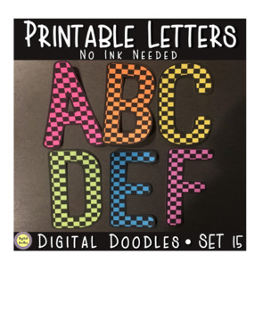 Printable Bulletin Board Letters ~SET 15~