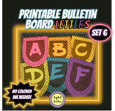 Printable Bulletin Board Letters ~SET 6~