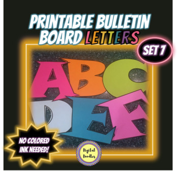 Printable Bulletin Board Letters ~SET 7~