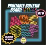 Printable Bulletin Board Letters ~SET 8~