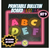 Printable Bulletin Board Letters ~SET 9~